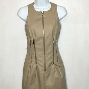 NWOT Michael Kors Zipper Sheath Dress - Size 2